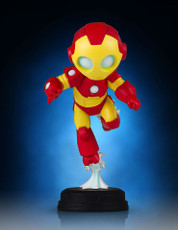 marvel animated iron man statue