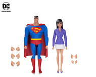 superman animated series superman lois lane action figure 2 pack