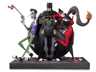 dc collectibles joker harley quinn bookends statue