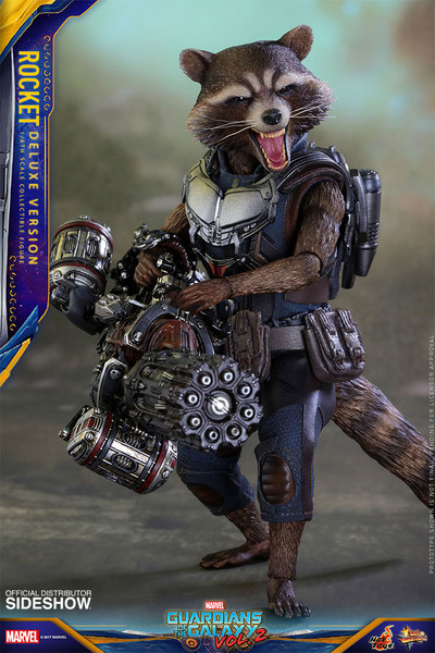 hot toys guardians of the galaxy vol 2 rocket deluxe version 1/6 scale figure