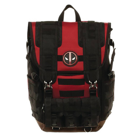 Bioworld Merchandising Marvel Deadpool Suit-Up Tactical Roll Top Backpack