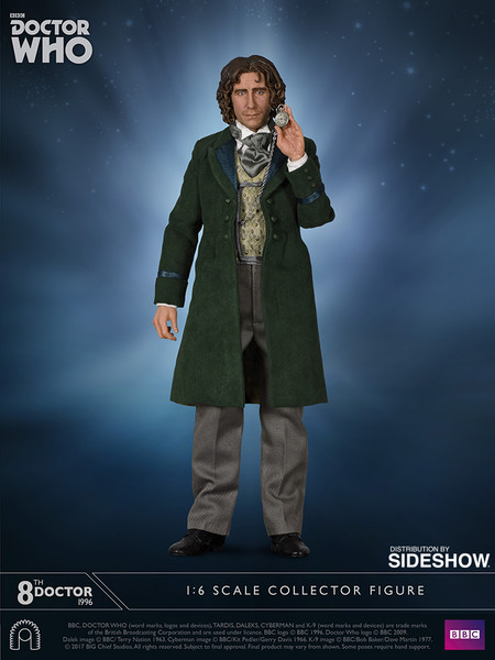 big chief studios doctor who 8th doctor sixth scale figure