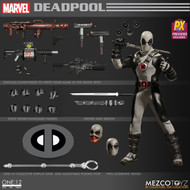mezco toyz one 12 collective previews exclusive x-force deadpool
