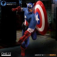 mezco one 12 collective captain america deluxe classic 2016 con exclusive