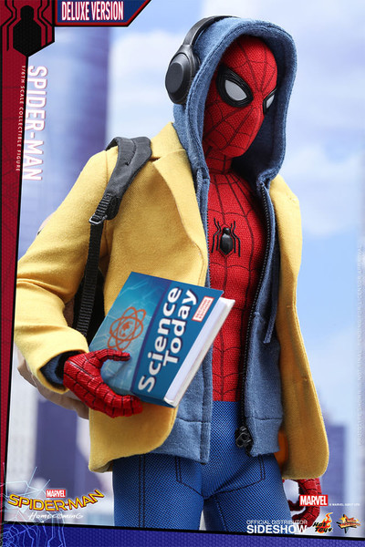 hot toys spider-man deluxe version sixth scale figure