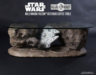 regal robot millennium falcon asteroid coffee table 001