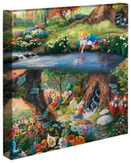 """Alice in Wonderland 14"""" by 14"""" Gallery Wrapped Canvas"""