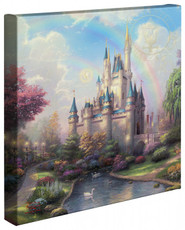 """A New Day at the Cinderella Castle 14"""" x 14""""Gallery Wrapped Canvas"""