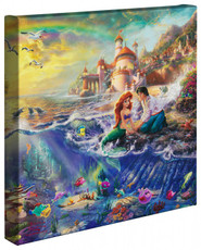 """The Little Mermaid 14"""" x 14"""" Gallery Wrapped Canvas"""