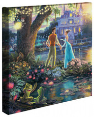 """The Princess and the Frog 14"""" x 14"""" Gallery Wrapped Canvas"""