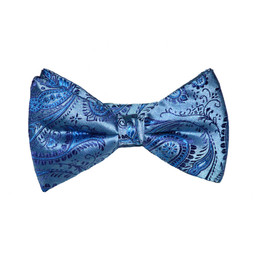 Paisley Bow Tie -  Baby Blue