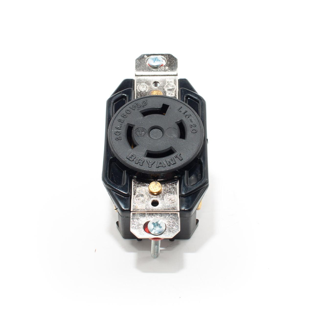 L15-20 3p4w 3ph 20a 250v Twist Lock Receptacle