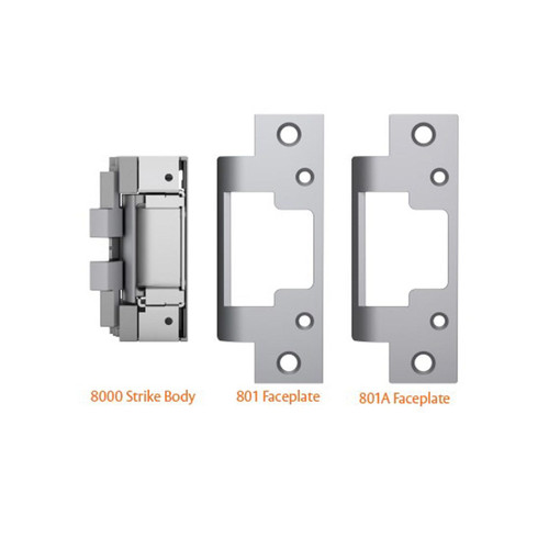 8000 Door Strike 801 faceplate for use with cylindrical locksets in metal jams 801A faceplate for  sc 1 st  TremTech Store - TremTech Electrical Systems Inc. & Security u0026 Protection - Access Control - Door Strikes - TremTech ... pezcame.com