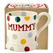 Polka Dot Mummy 1/2 Pint Mug Boxed)