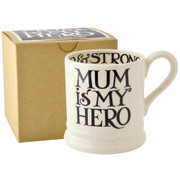Mum is my hero half pint mug