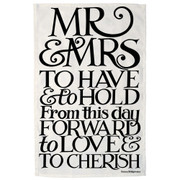 Black Toast Mr and Mrs Tea Towel