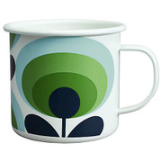 Enamel mug - 70s Flower - Apple