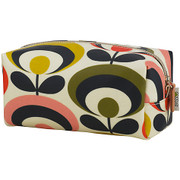 Limited edition Large Cosmetic Bag - Multi coloured 70s flower
