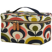 Limited Edition vanity cosmetic case - Multi Coloured 70s flower