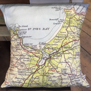 Cushion Cover - St Ives bay - Hessian Backing