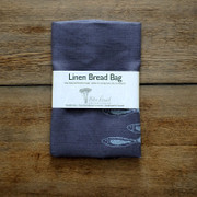 Bread Bag - Grey with Silver Fish