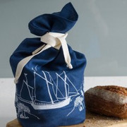 Bread Bag - Navy with white ship