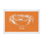 Cornish Teatowel - Orange Crab