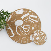 Cork Placemat & Matching Coaster -  Pebble