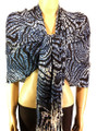 Pashmina Animal Blue Black #84-7