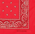 Bandanas Paisley Red Bulk Dozen Wholesale