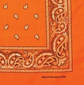 Bandanas Paisley Orange Bulk Dozen Wholesale