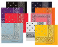 Bandanas Paisley Assorted Bulk Dozen Wholesale
