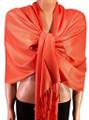 Pashmina Solid Bright Orange 2-29