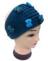 Flower Bow Knitted With Rhinestone Headband Assorted Dozen # HB 058
