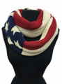 USA American Flag Winter Knit Infinity Loop Circle Scarf Dozen  #521