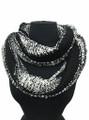 Soft Chevron  Two-Tone Knit Infinity Scarf  Assorted Dozen #539