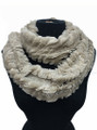 Super Soft Faux Fur with Sequence  Infinity Scarf  Assorted Dozen #557