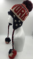 American Flag Stars  Ear-Flap Knit Hats Wholesale Dozen #H1134