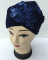 Flower Design Knit Hats with Sequence  Assorted Dozen # H1127