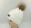 New!  Knit Hats with Fur Ball Assorted dozen #H1227