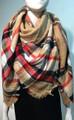 Womens Stylish shawl  Scarf  Khaki # P172-4