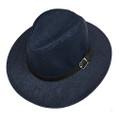 Fashion Summer Straw Hat Navy # H8025-1