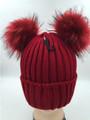 Two Ball Knit Crochet Winter Warm Hat  Assorted Dozen #H1202