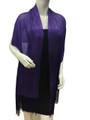Women's glitter metallic shawl scarf Purple # 736-5