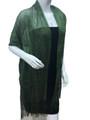 women's glitter metallic shawl scarf   Green # 736-22