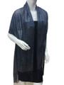women's glitter metallic shawl scarf   Navy # 736-20