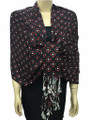 New! Pashmina Polka Dot Red / Black Dozen #109-5