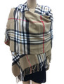 Cashmere Feel shawl  Scarves  Khaki # 961-1