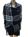 Cashmere Feel shawl  Scarves  Black # 961-2
