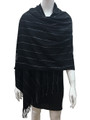 Cashmere Feel shawl  Scarves Black # 93-1